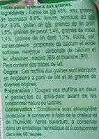 Muffins aux graines - Ingrédients