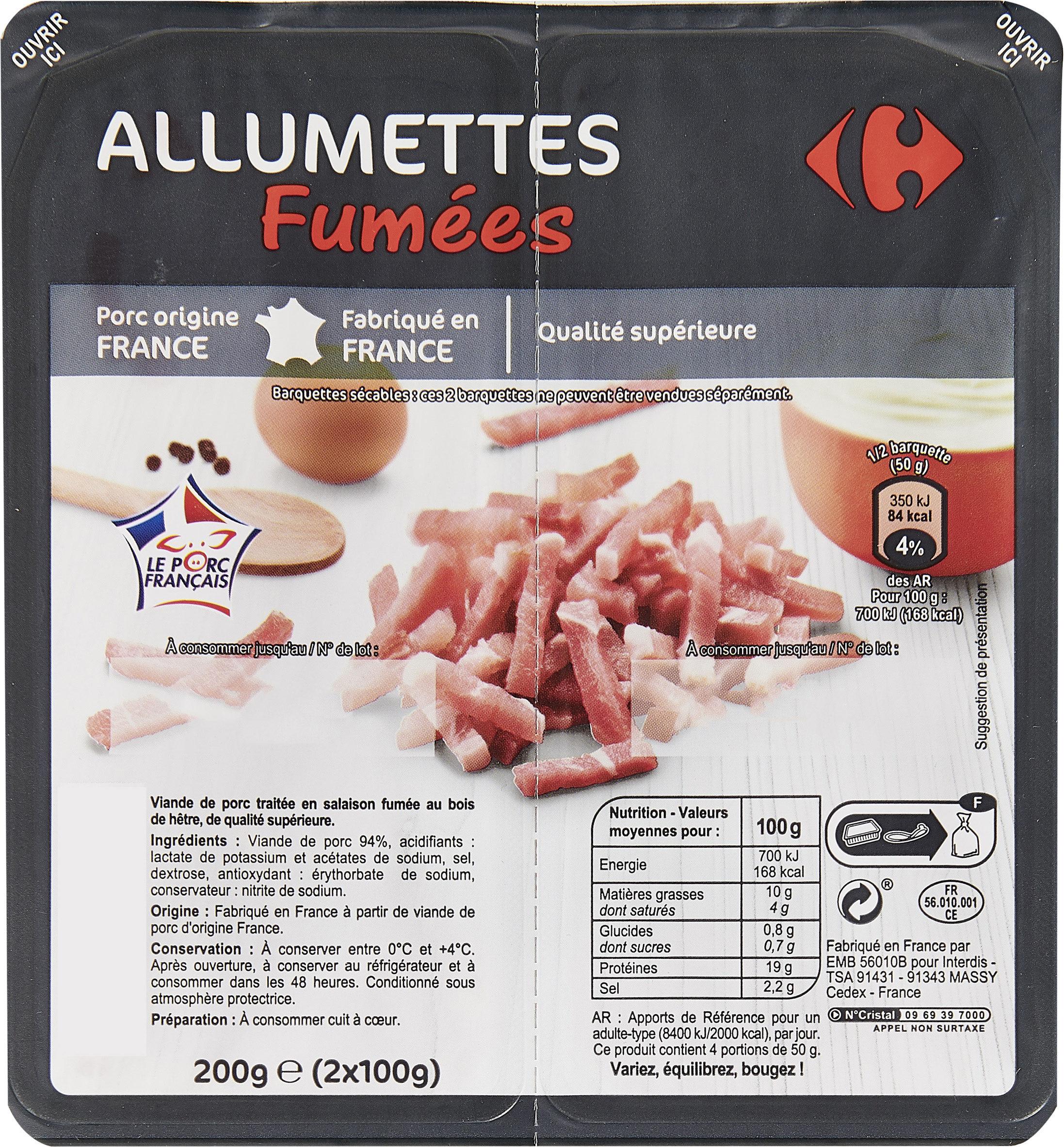 Allumettes Fumées - Produkt