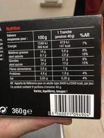 Cake aux fruits pur beurre - Nutrition facts - fr