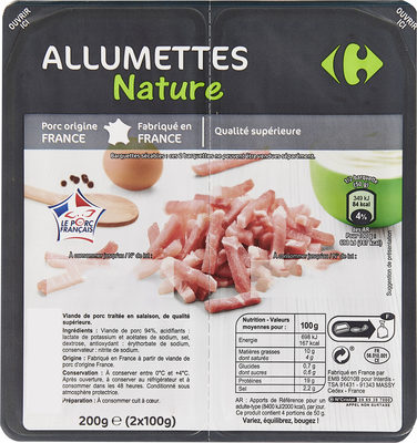 Allumettes  Nature - Product