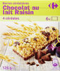 Barres céréalières Chocolat au lait Raisin - Produit