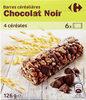 Barres céréalieres chocolat noir - Product