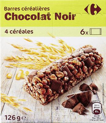 Barres céréalieres chocolat noir - Product - fr