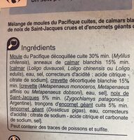 Cocktail de fruits de mer - Ingredients - fr