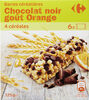 Barre céréalière Chocolat noir goût orange - Product