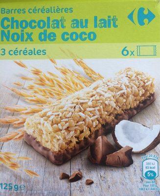 Barre céréales chocolat noix de coco - Product