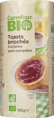 Toasts briochés à la farine semi-complète - Product - fr