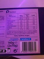 9 précieux - Informations nutritionnelles - fr
