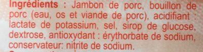 Jambon de Paris - Ingrediënten