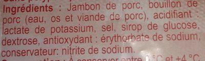 Jambon de paris - Ingrédients
