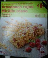 Barritas de cereales Arándanos rojos - Producto