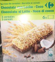 Barritas de cereales chocoleche y coco - Producto - es