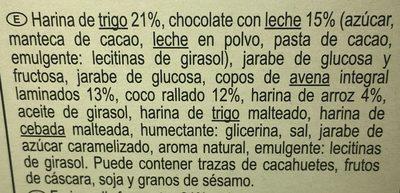 Barritas de cereales chocoleche y coco - Ingredientes - es