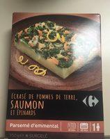 Ecrasé de pommes de terre,saumon et epinards - Produit - fr