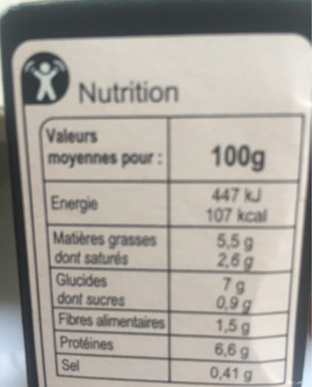 Ecrasé de pommes de terre,saumon et epinards - Informations nutritionnelles - fr