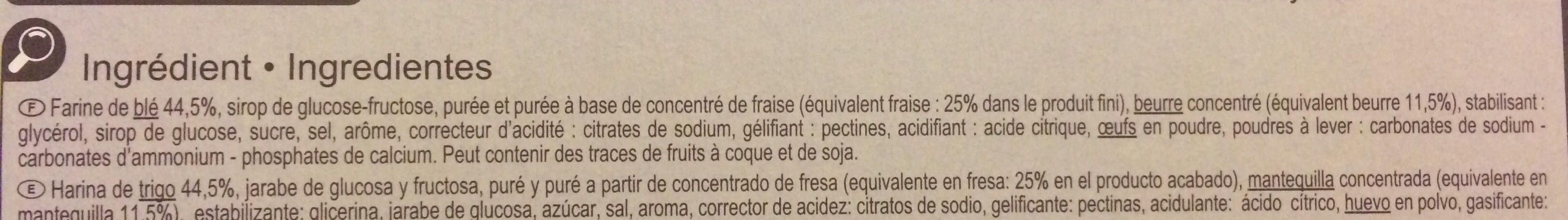 Tartelettes carrees - Ingredientes