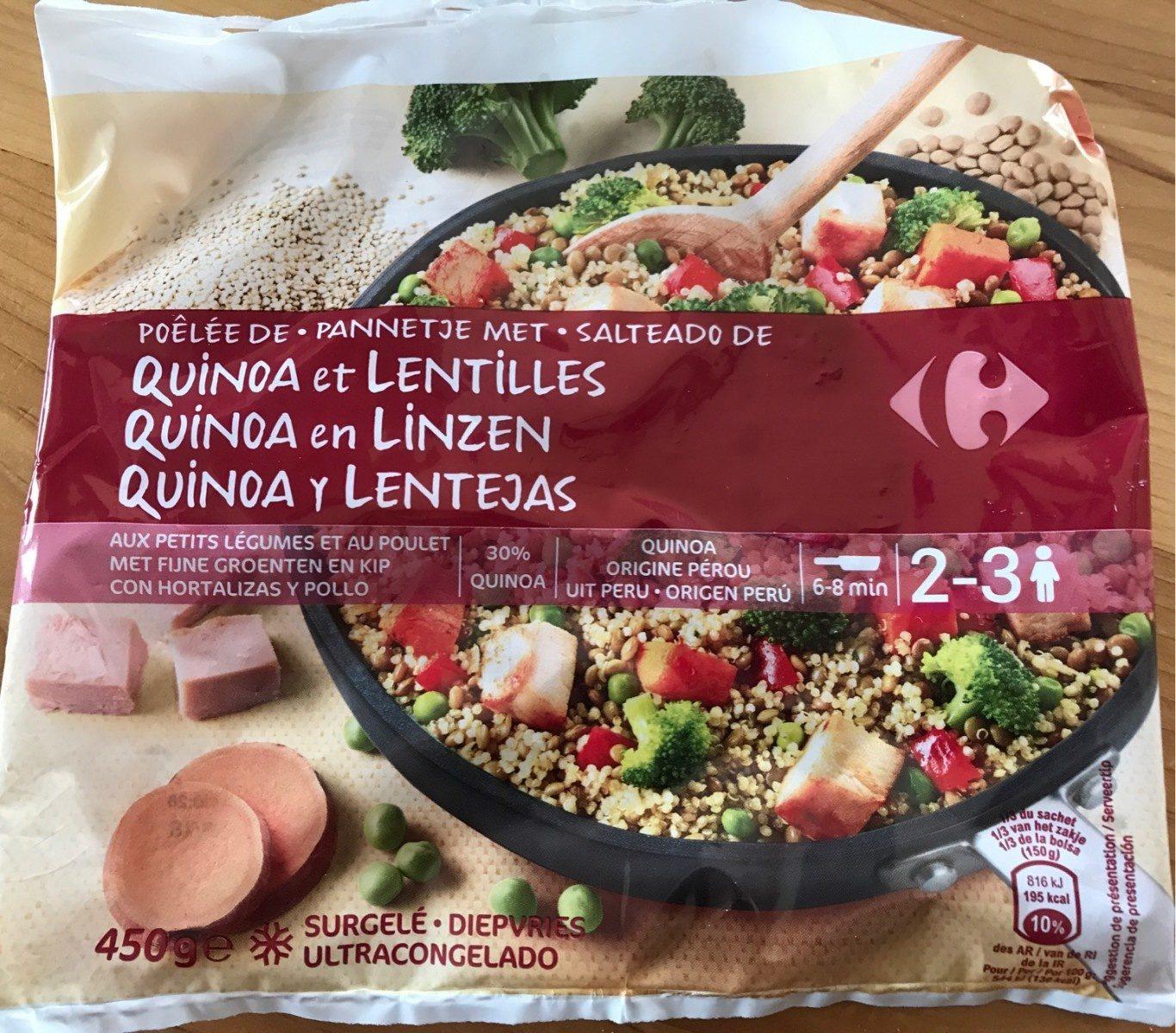 Poêlée de Quinoa et Lentilles - Product - fr