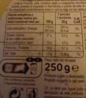 Le camembert - Ingrediënten - es