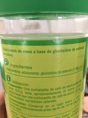 Extracto de Estevia - Ingredientes