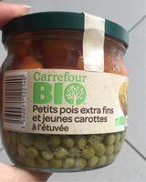 Petit pois extra fins et jeunes carottes à l'étuvée - Produit - fr