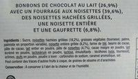 Coeur croustillant fine gaufrette - Ingrédients - fr