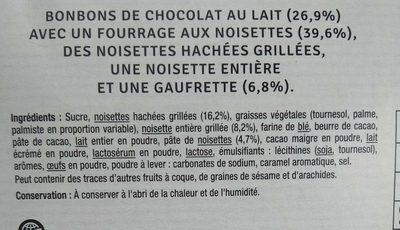 Coeur croustillant fine gaufrette - Ingrédients