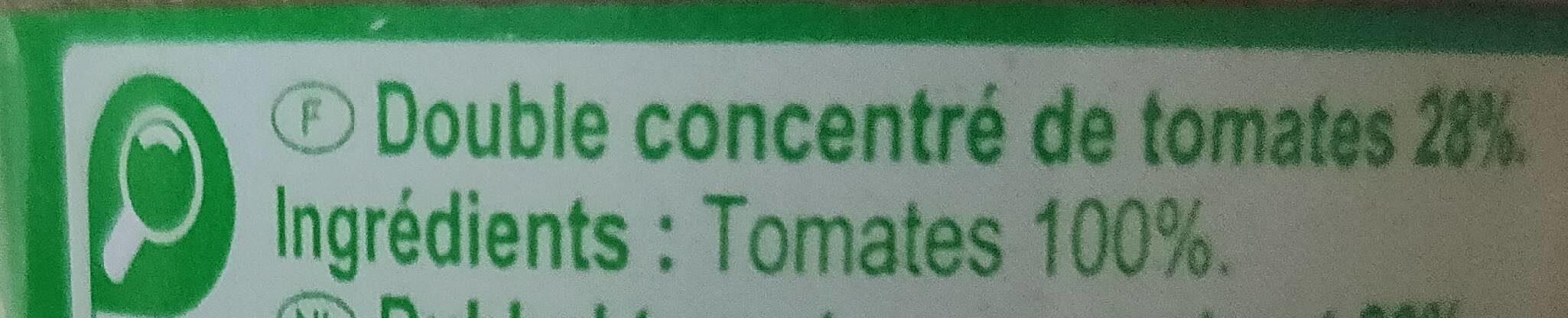 Double concentré de tomates - Ingrediënten - fr