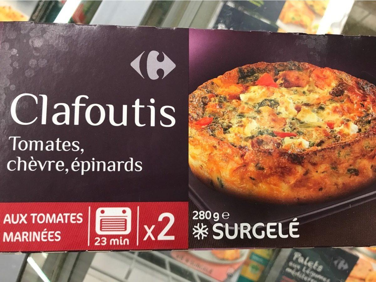 Clafoutis tomate chevre epinards - Produit - fr