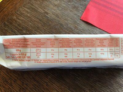 Cookies pepites de chocolat - Valori nutrizionali - fr