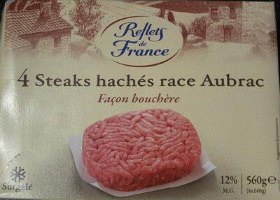 4 steacks hachés race Aubrac - Produit - fr