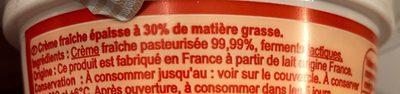 Crème fraîche épaisse - Ingrediënten