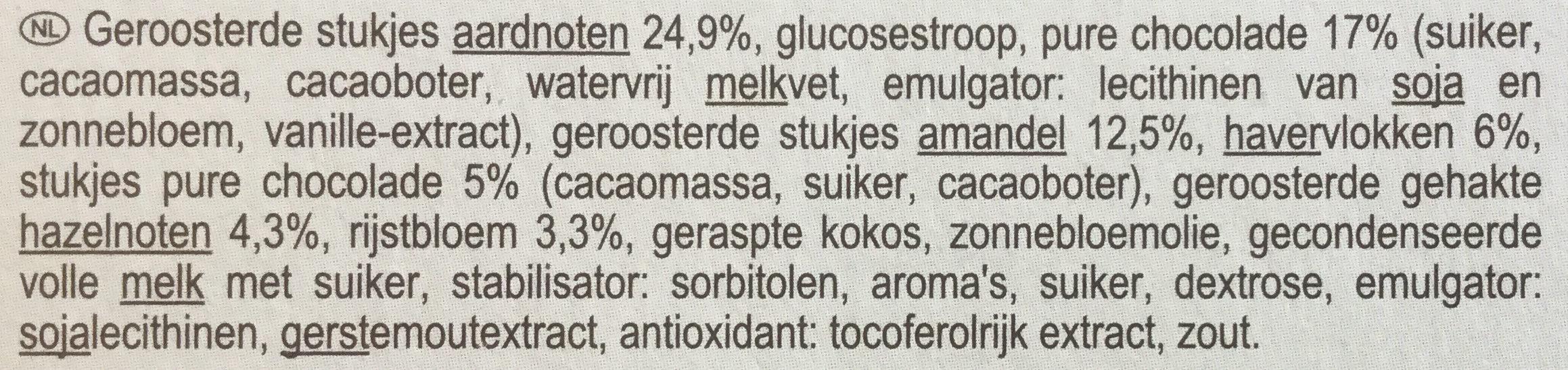 Barre gourmande chocolat - Ingrediënten - nl