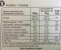 Barre gourmande chocolat - Voedingswaarden - fr