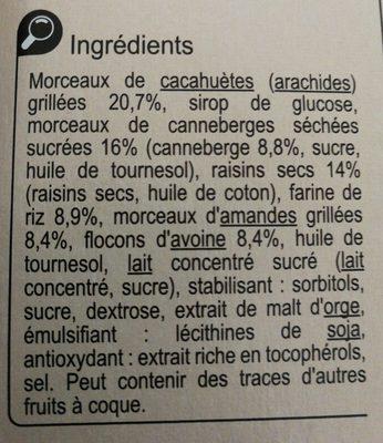 Barre gourmande canneberge - 2