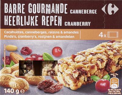 Barre gourmande canneberge - Prodotto