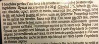Gyozas aux crevettes - Ingredients - fr