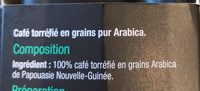 Café torréfié en grains pur Arabica - Ingredients - fr