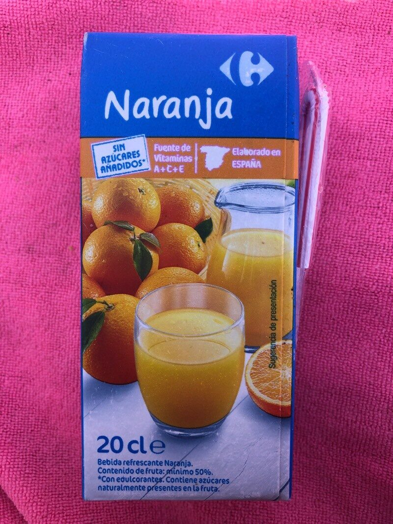 Naranja - Nutrition facts