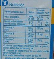 Zumo piña Carrefour - Voedingswaarden - es
