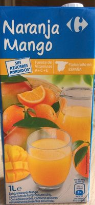 Bebida naranja mango - Producto