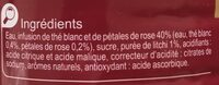 The blanc infuse saveur litchi & rose - Ingrédients