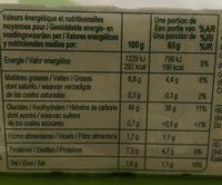 Pâte à Pizza - Voedingswaarden - fr