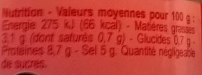 Oeufs de lompe rouges - Nutrition facts