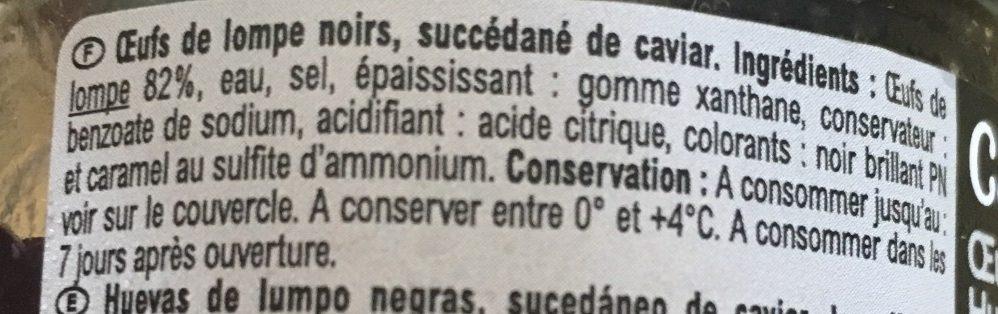 Oeufs de Lompe - Ingredients