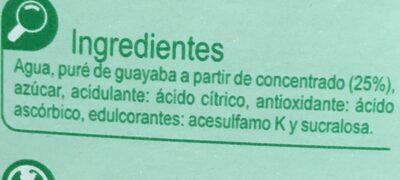 Nectar Guayaba - Ingredients - es