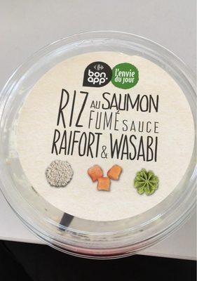 Riz au saumon fumé sauce raifort et wazabi - Produit