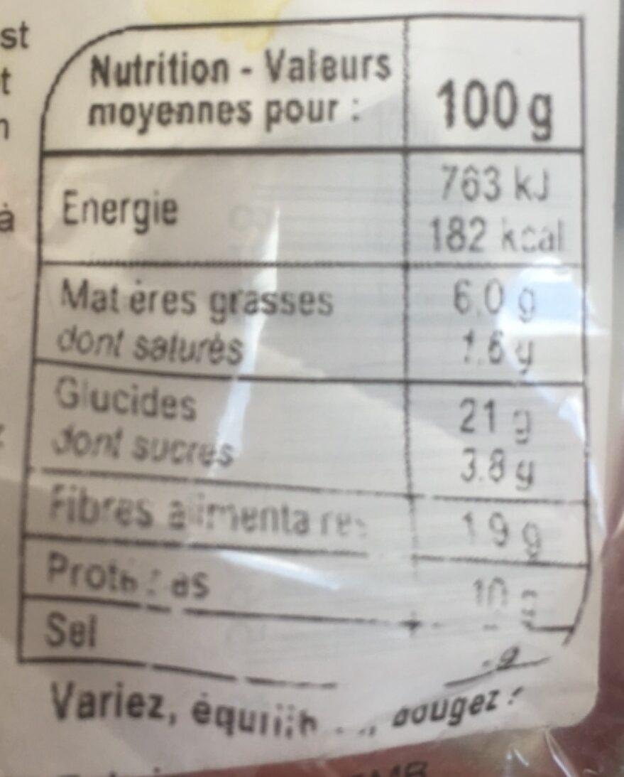 Wrap poulet - Nutrition facts