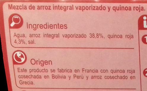 Arroz integral y quinoa roja - Ingrédients - es