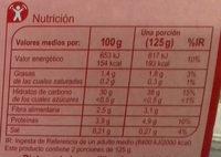 Arroz integral y quinoa roja - Informations nutritionnelles - es