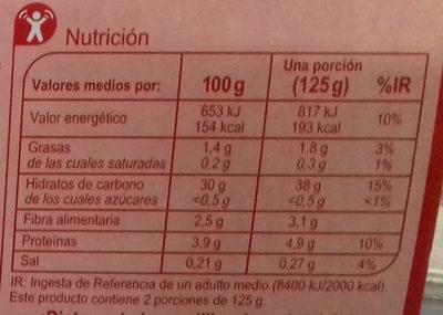 Arroz integral y quinoa roja - Informations nutritionnelles